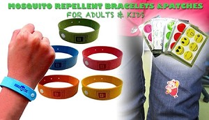 MOSQUITO REPELLENT BRACELETS / PATCHES COMBO